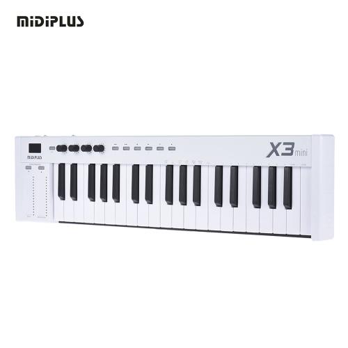 MIDIPLUS X3 mini 37-klawiszowa klawiatura USB MIDI kontroler wyświetlacz LED z kablem USB