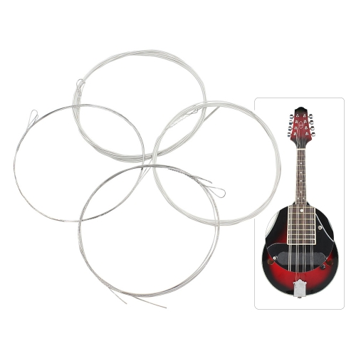 High-quality Mandolin Strings String Plated Steel Silver-plated Copper Alloy Wound, Full Set (E-A-D-G)