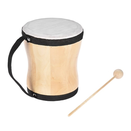 Wood Hand Bongo Drum Musical Toy Percussion Instrument
