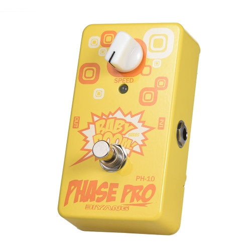 BIYANG PH-10 BABY BOOM Series Phase Pro Guitar Effect Pedal True Bypass Full Metal Shell