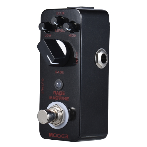MOOER RAGE MACHINE Heavy Metal Distortion Pedal de efectos de guitarra True Bypass Full Metal Shell
