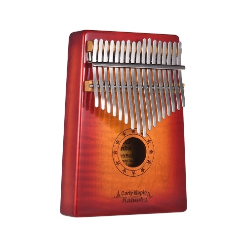 GECKO MC-S 17-key Kalimba Thumb Piano Mbira Curly Maple Solid Wood with Carry Bag Storage Case Tuning Hammer Music Book Stickers Musical Gift