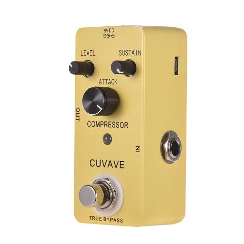 CUVAVE COMPRESSOR Pédale d'effet guitare classique en alliage de zinc Shell True Bypass