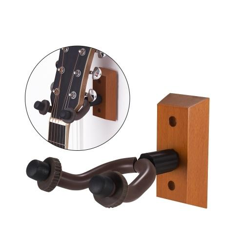 Colgador de guitarra de madera Cuerda de montaje en pared Soporte de instrumentos Tenedor de ganchos