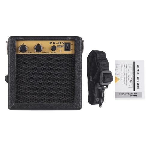 Altavoz amplificador de madera con amplificador de guitarra