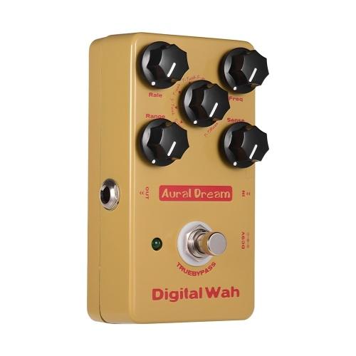 Aural Dream Digital Wah Effektpedal Aluminiumlegierung Shell True Bypass E-Gitarren-Pedale