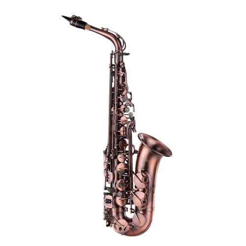 Muslady High Grade Red Bronze Bent Eb Saxofón Alto