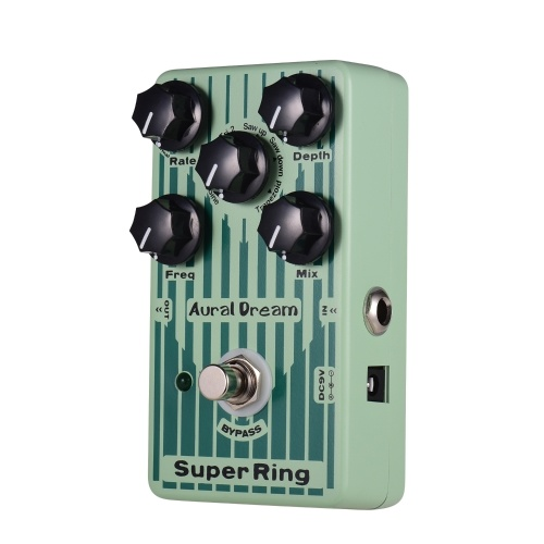 Aural Dream Super Ring Guitar Effect Pedal 2 Ring Modes 6 Waves Aluminum Alloy Shell with True Bypass