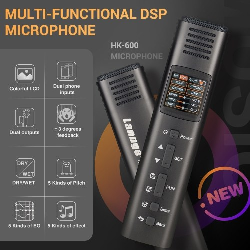 Lannge HK-600 Multi-Functional DSP Microphone Unidirectional Mic