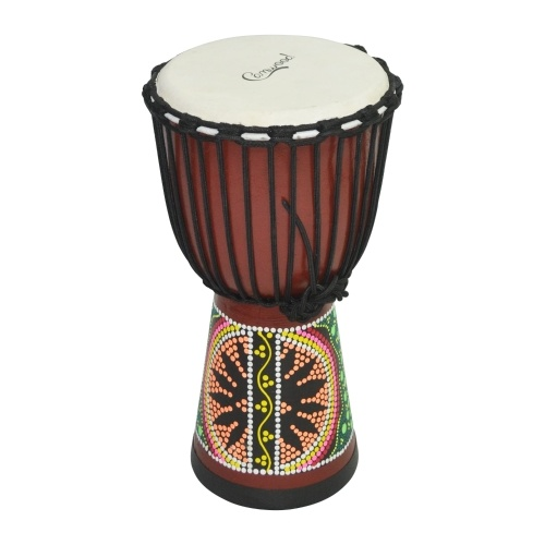 Camwood 10 Inch Wooden African Drum Djembe Bongo Congo Hand Drum Percussion