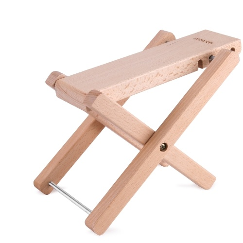 ammoon Foldable Solid Wood Guitar Foot Rest Footstool Footrest Pedal