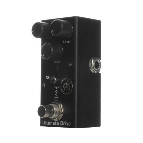 Ultimate Drive Effect Pedal für E-Gitarren mit True Bypass Portable Single Guitar Pedal DC 9V Schwarz