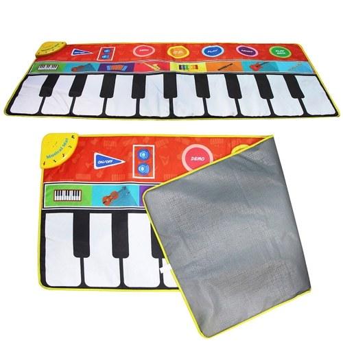 148 * 60cm / 58 * 24in Musical Mat Faltbare Klaviermatte Kids Keyboard Electronic Music Carpet