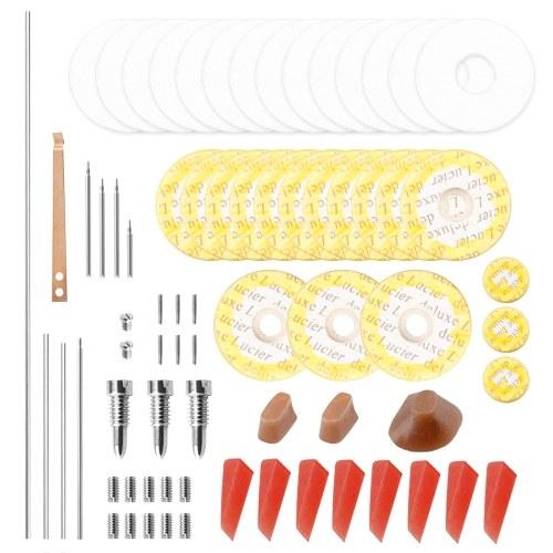 Kit d'outils de maintenance de réparation de flûte professionnelle arbres + vis + joints + tampons + goujons + accessoires d'instruments de musique Reed