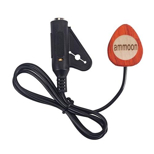 ammoonマンドリンギターピックアップウッドピエゾコンタクトマイクピックアップ6.35mmポート
