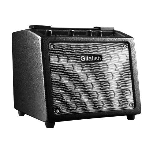 Gitafish B9 Tragbarer E-Gitarren-Verstärker 8W Wiederaufladbarer Amp-Lautsprecher