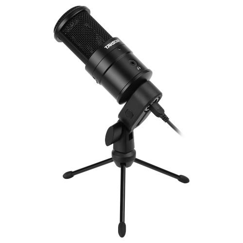TAKSTAR PC-K220USB Condenser Desktop Microphone USB Powered Cardioid PC Mic Plug and Play
