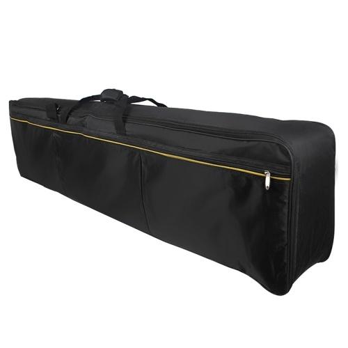 ammoon Sac de transport pour clavier à 88 touches Étui rembourré pour piano électrique Sac de transport Fermeture à glissière avec poignée supérieure (Livraison aléatoire de couleur de sangle de sac)