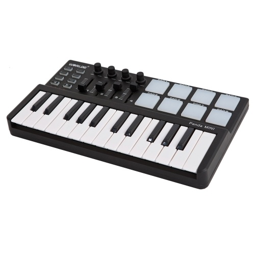 Worlde Panda 25-Key USB Keyboard and Drum Pad MIDI Controller