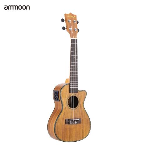 """ammoon 24 """"Cutaway Ukulele Hawaii Guitar Present Present"""