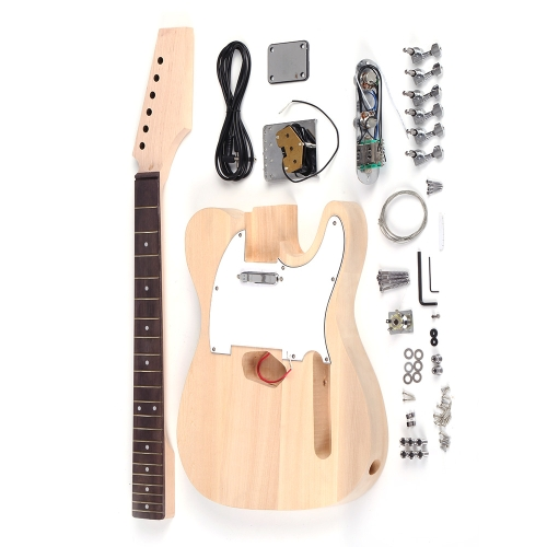 Tele Style Unfinished DIY Electric Guitar Kit