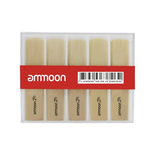 ammoon 10pcs Reeds Strength 2.5 2-1/2 Reed Bamboo for bB Clarinet Accessory Part