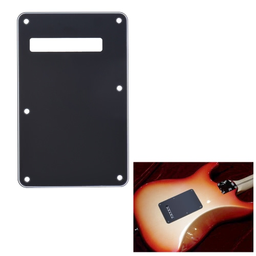 Pickguard Tremolo Cavity Cover Backplate Back Plate 3Ply for Fender Stratocaster Strat Modern Style Electric Guitar Black