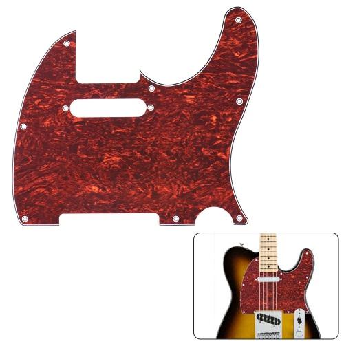 Battipenna Guardia di Pick 4ply per Fender Telecaster standard Stile Moderno chitarra elettrica guscio di tartaruga rossa
