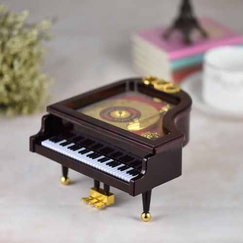 Mechanical Wind-up Piano Musical Music Box Classical Melody