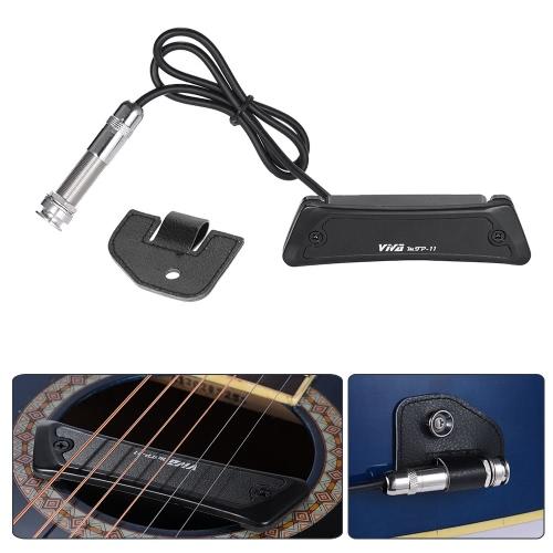 Alta qualità passiva Soundhole Magnetic Pickup bobina singola per chitarra piega