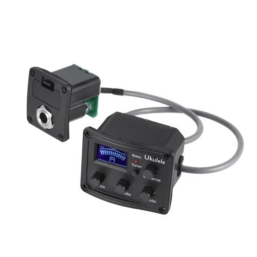Ukulele Ukelele Uke Piezo Pickup Preamp 3-Band EQ Equalizer Tuner System with LCD Display