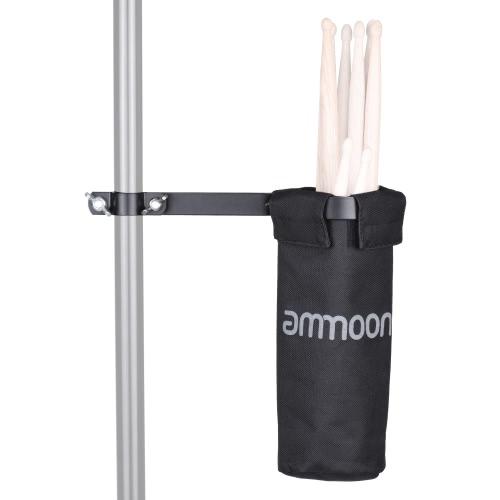 Bild von ammoon Drum Stick Halter Drumstick-Tasche 600D mit Aluminiumlegierung-Clamp für Drum Ständer