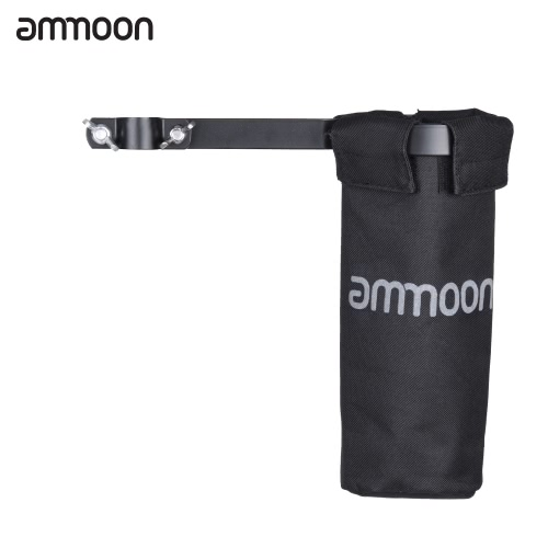 ammoon Drum Stick Holder Drumstick Bag 600D with Aluminum Alloy Clamp for Drum Stand