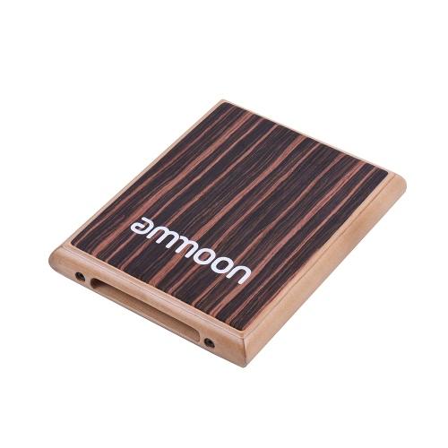 ammoon compatto di corsa della scatola del tamburo Cajon piatto a mano Strumento a percussione tamburo con stringhe regolabili borsa per il trasporto
