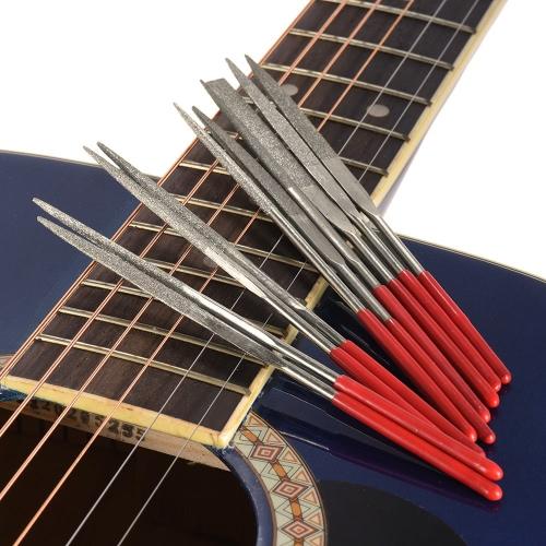 Guitar Fret Nut Saddle Slot Pickguard Szlifowanie plik grupy Set Luthier Naprawa 10szt narzędziem w 1 Zestaw