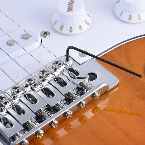9pcs Gitarre Bass Neck Bridge Schraube Truss Rod Adjustment Schlüssel-Satz-Reparatur-Werkzeug