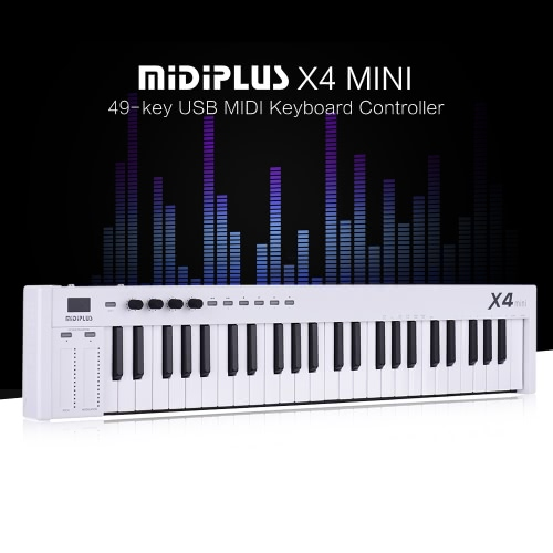 MIDIPLUS X4 mini 49-key USB MIDI Keyboard Controller LED Display with USB Cable