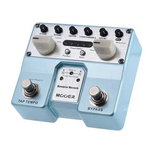 MOOER Reverie Reverb Guitar Effect Pedal 5 Reverberation Modes 5 Enhancing Effects with Two Footswitch