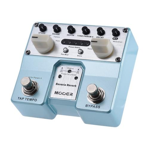 MOOER Reverie Reverb guitarra pedal de efectos de reverberación 5 Modos 5 de efecto de realce con dos interruptor de pedal