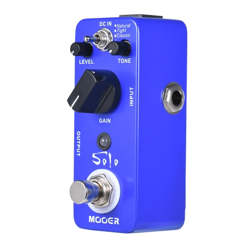 MOOER SOLO Distorsione Chitarra Effetto Pedale High-gain True Bypass Full Metal Shell