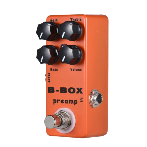 MOSKY B-Box Chitarra elettrica Preamp Overdrive Effect Pedal Full Metal Shell True Bypass