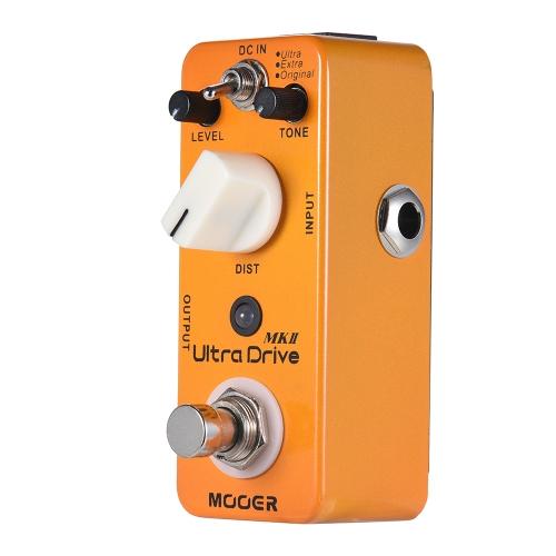 MOOER Ultra Drive MKII Distortion Guitar Effect Pedal 3 Modes True Bypass Full Metal Shell