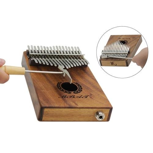 Martillo de afinación de metal Piano Mbira con mango de madera de arce