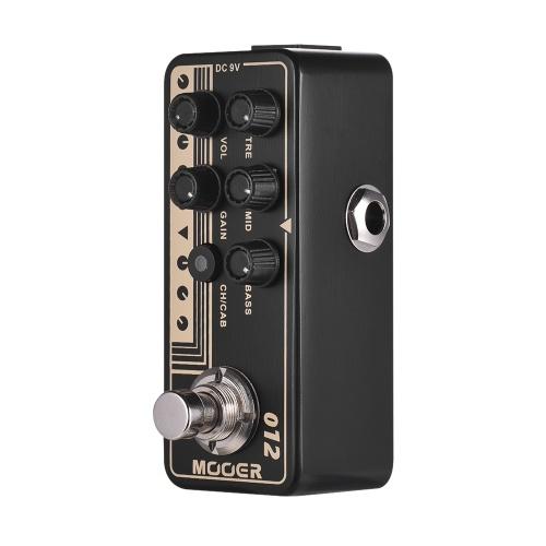 Mooer MICRO PREAMP Serie 012 US GOLD 100 Britischen Stil Digital Preamp Vorverstärker Gitarre Effektpedal Dual Channels 3-Band EQ mit True Bypass