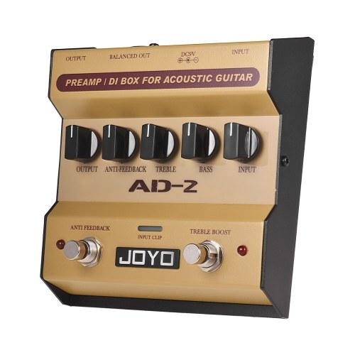 JOYO AD-2 Portátil Preamp DI Box Pedal de Efeito de Guitarra Acústica