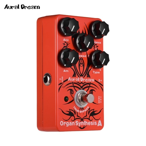 Aural Dream Organ Synthesis A Electric Guitar Effects Pedal with Rock Blues Reggae Rockband Organ True Bypass Single Effects I4709