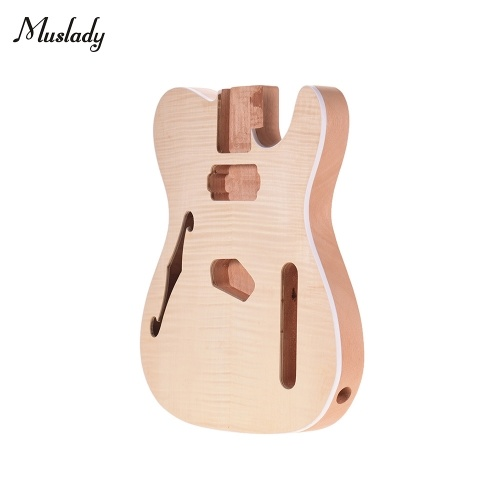 Muslady TL-FT03 Unfinished Guitar Body Mahogany Wood Blank Guitar Barrel for TELE Style Electric Guitars DIY Parts