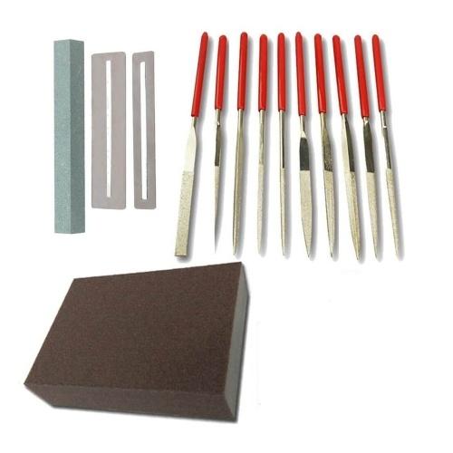 Stainless Steel Guitar Fret Polishing File Kit