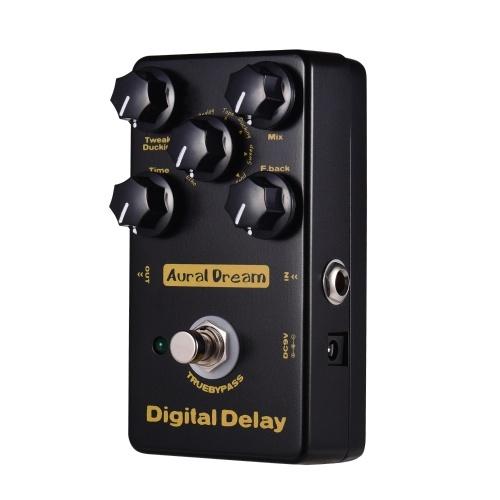 Aural Dream Digital Delay Guitar Effect Pedal 8 Effect Modes Aluminum Alloy Shell with True Bypass