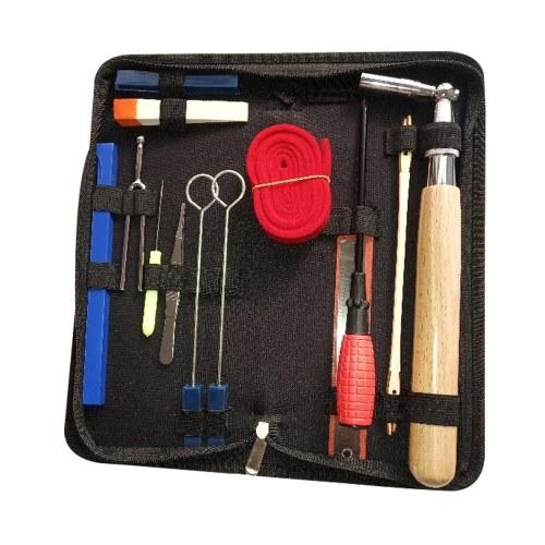 Kit de afinación de piano profesional, juego de herramientas de afinación, herramienta de afinación de piano, llave de afinación fija con mango de madera con bolsa